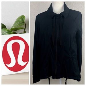 LuluLemon Pleated Back Full Zip Jacket EUC